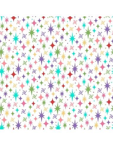Tela Estrellas Colores - Retro Road Trip