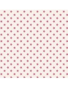 Tela Rosa Estrellas - Tilda...