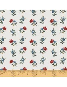 Tela Flores Medianas Rojas...